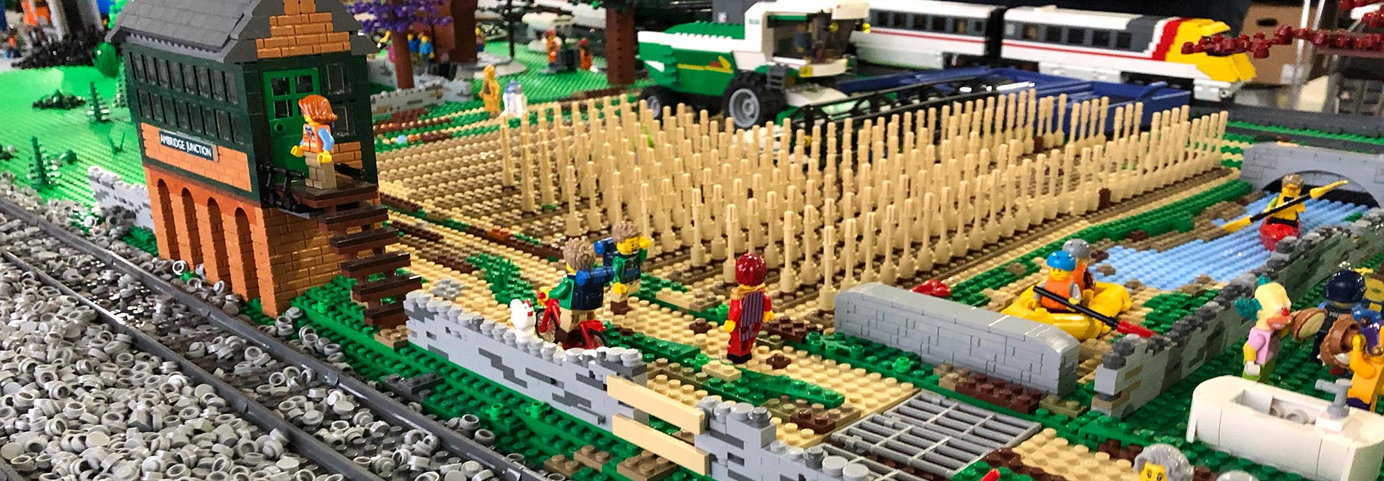 LEGO railway model landscapes