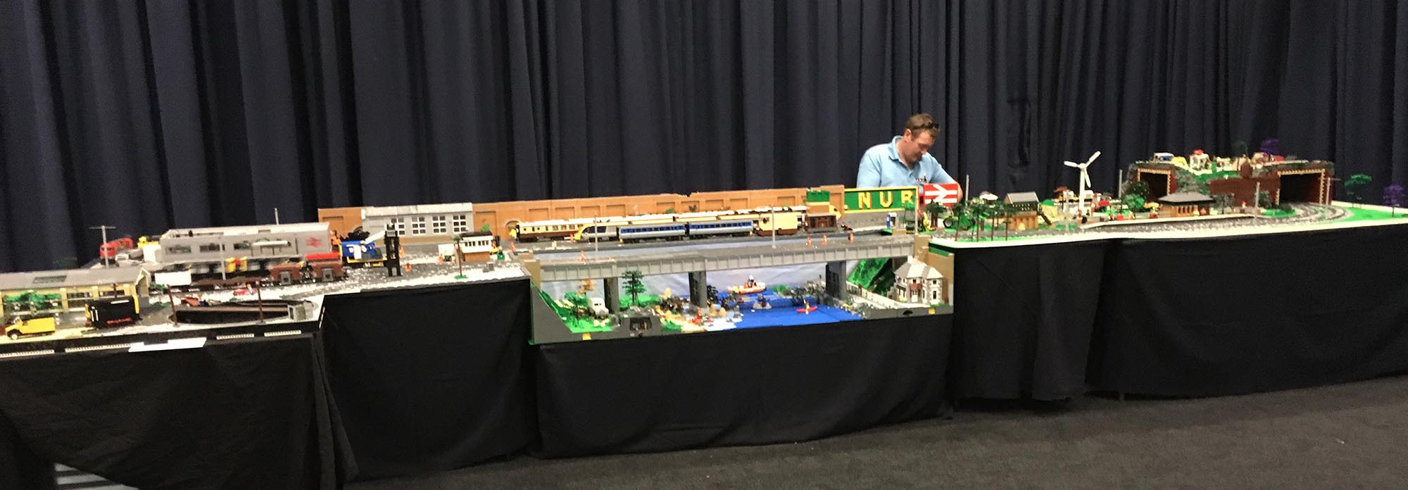 LEGO train displays in the UK