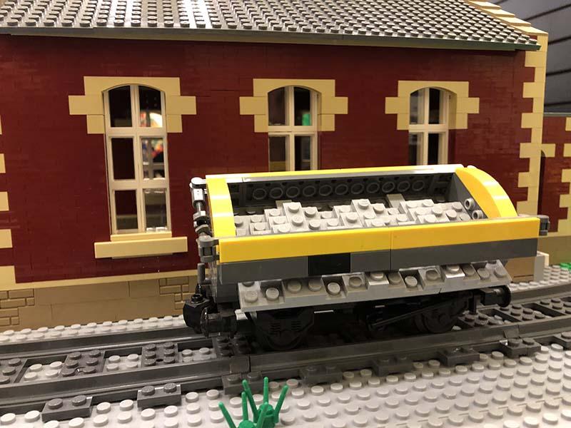 LEGO model of  14t Side Tipping Ballast Wagon