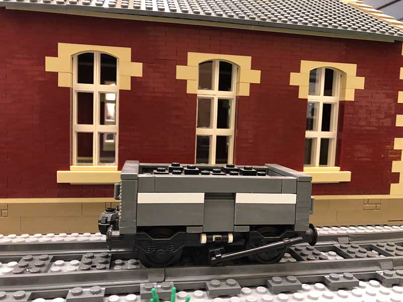 LEGO model of 16t Steel Mineral wagon (MCO) National Coal Board