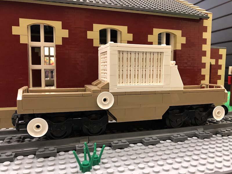 LEGO model of Nuclear flask wagon (FNA)