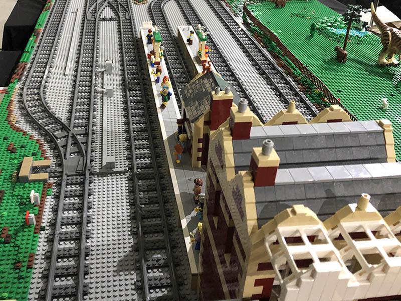 LEGO model - Darrington Railway Station on the LNUR display