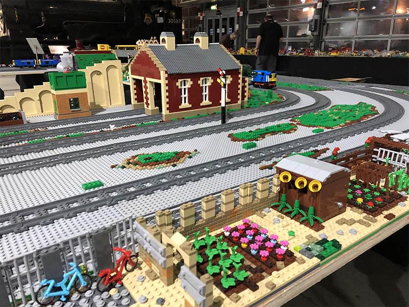 Darrington Railway Station - LEGO model on LNUR display