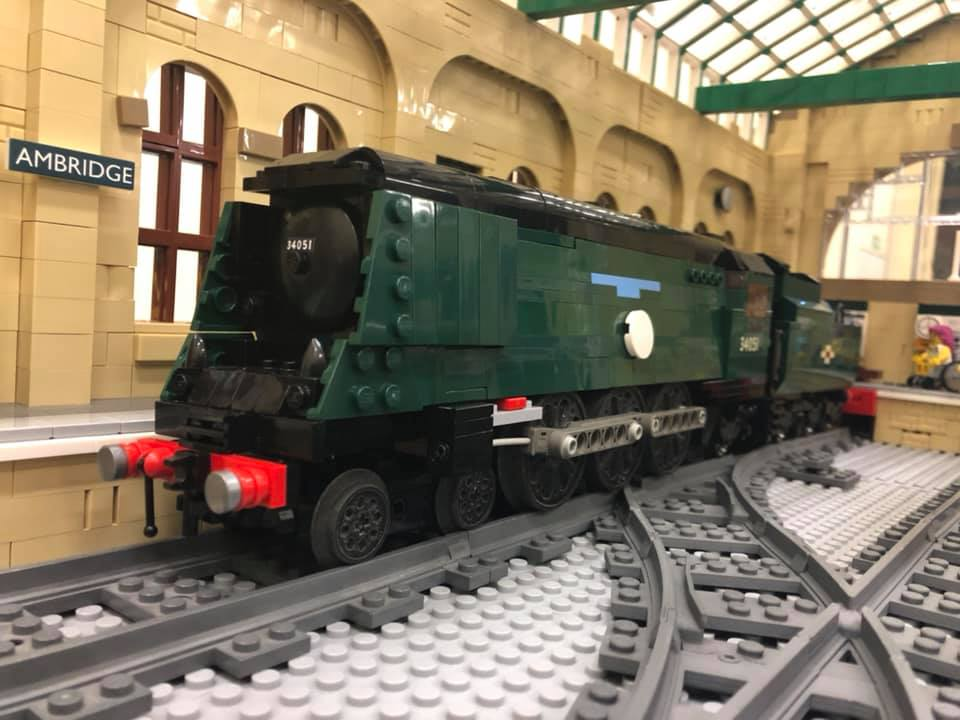 LEGO model of Southern Railway Bulleid - Battle of Britain class