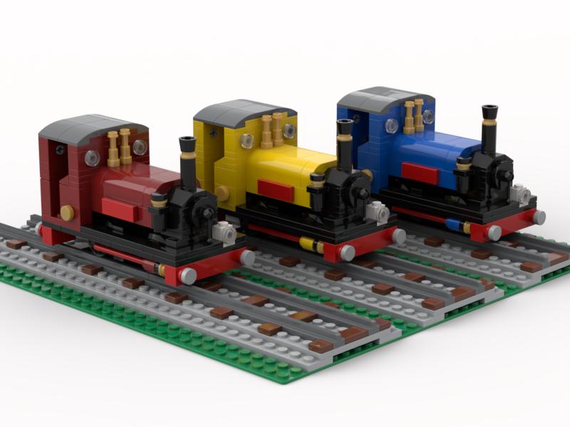 LEGO narrow gauge railway model