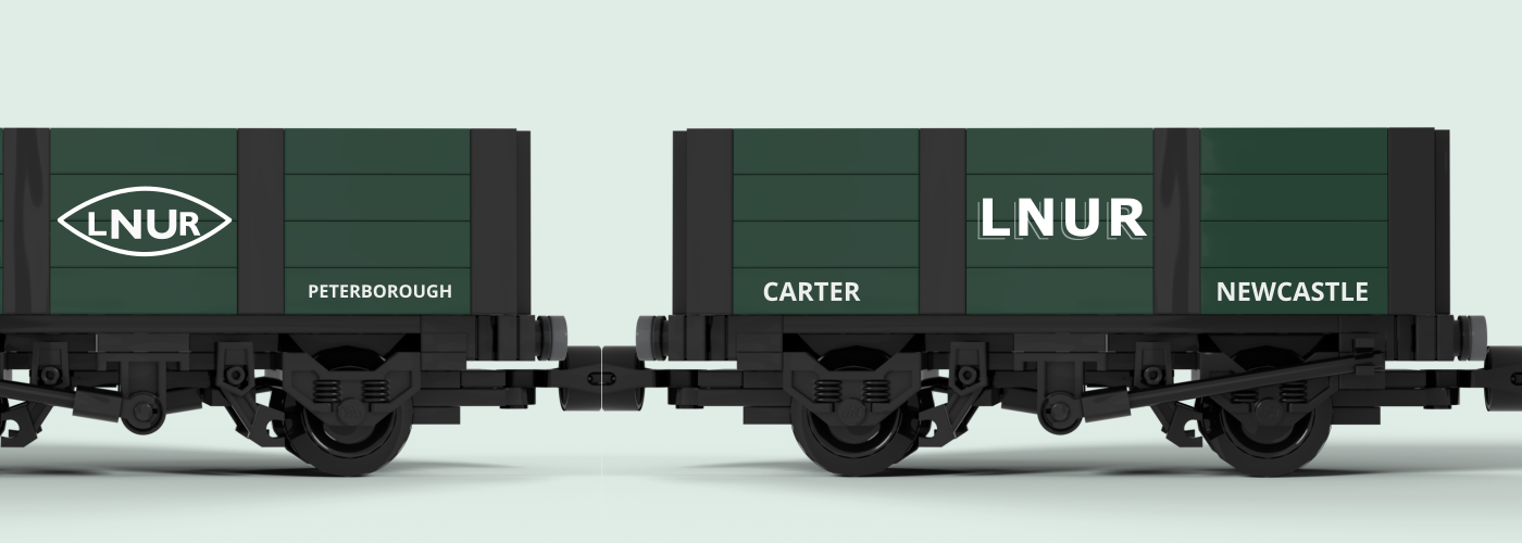 LNUR private owner wagons - LEGO models