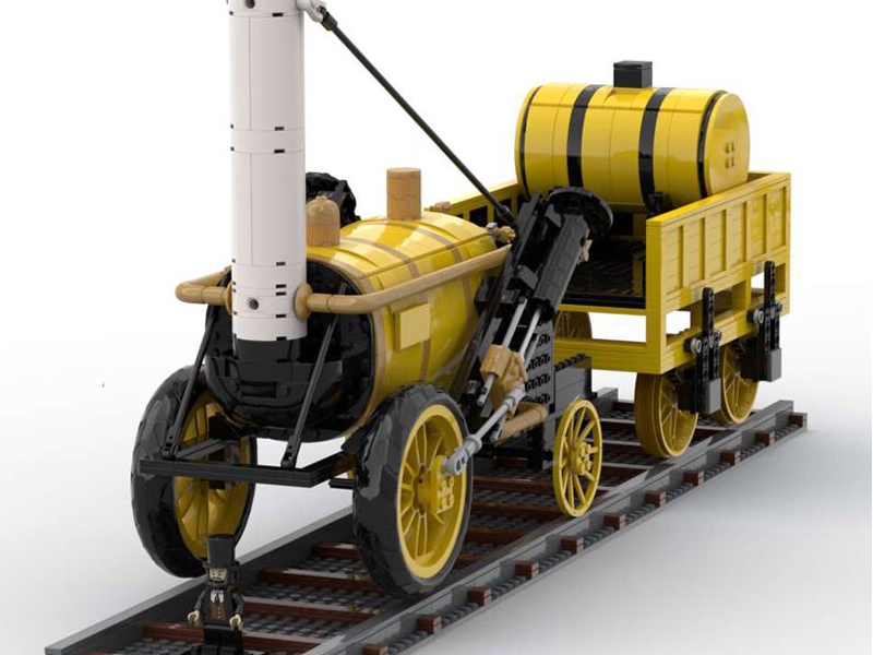 Steve Mayes' LEGO model of Stephenson's Rocket