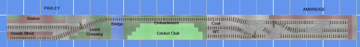 Track plan for Ambridge & Paxley LEGO railway