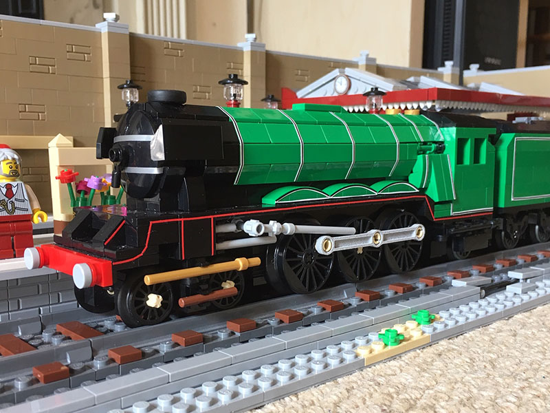 LEGO model of Flying Scotsman