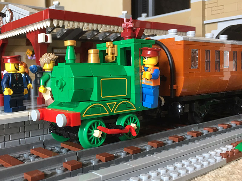 LEGO model of Ivor The Engine