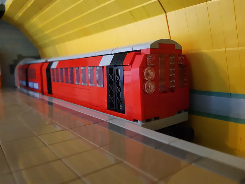 LEGO Glasgow Subway model