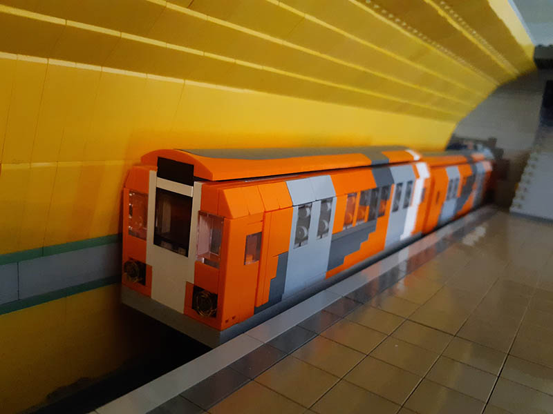 LEGO model of Glasgow Subway locomotive / EMU