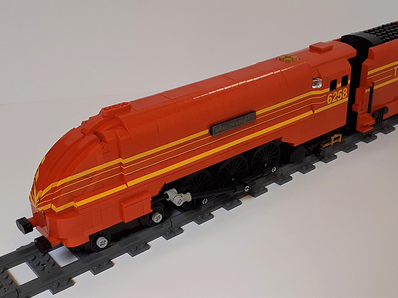 LEGO model of LMS Streamlined Coronation Class